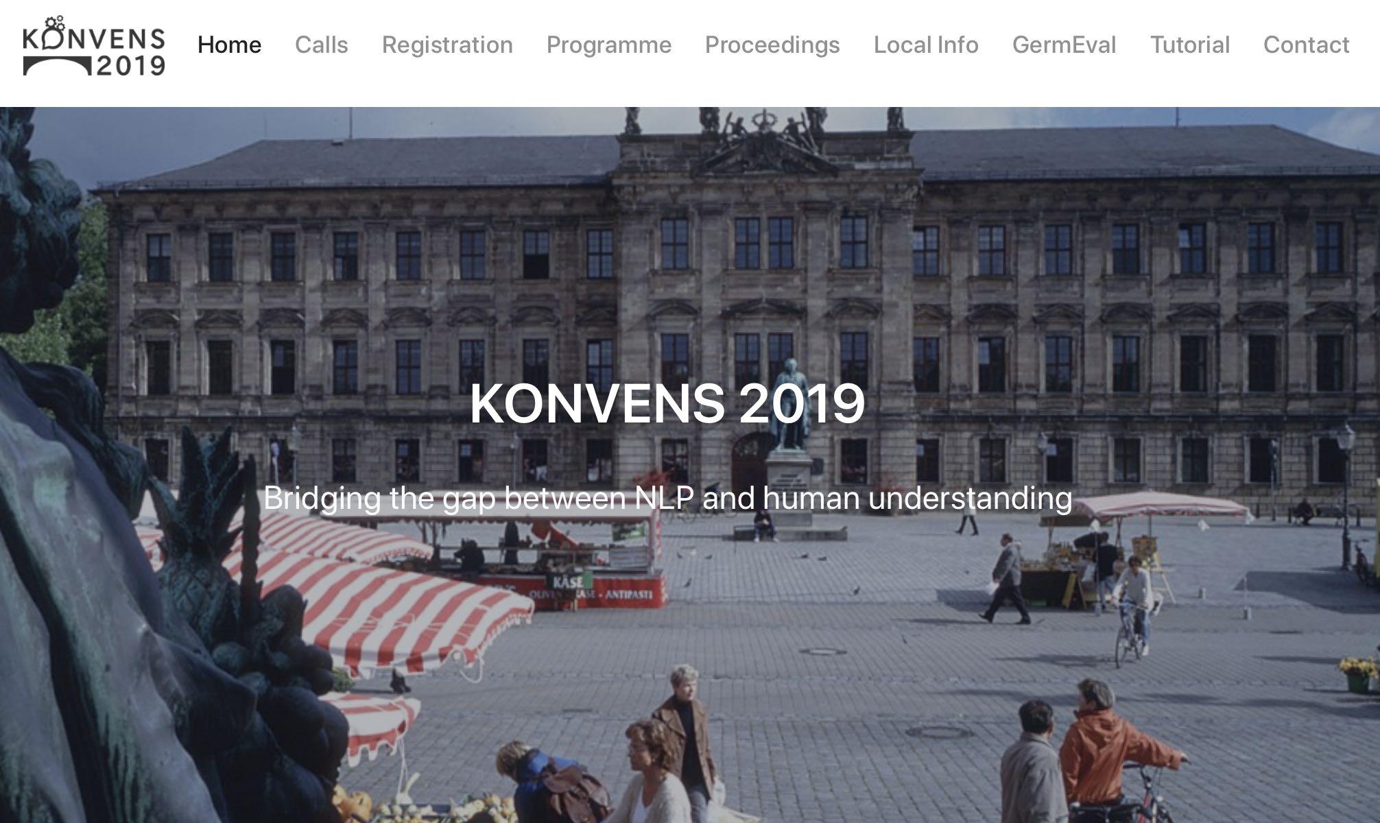 GermEval at KONVENS 2019